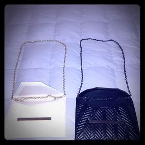Two Ladies Clutch Bags with chains